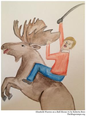 Elizabeth Warren Bull Moose